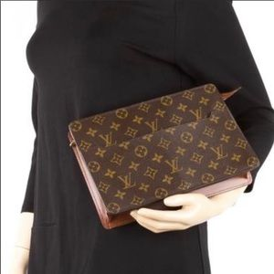 Auth Louis Vuitton Monogram Pochette Homme Clutch